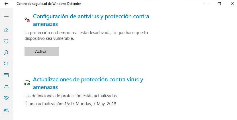 desabilitar o Windows Defender