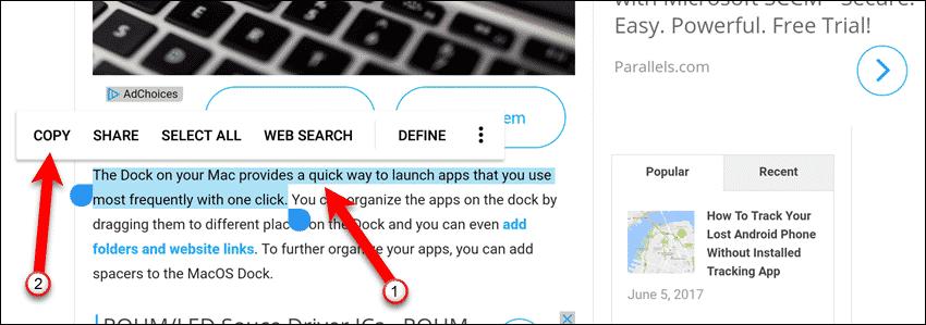 compartilhar área de transferência entre Android e PC