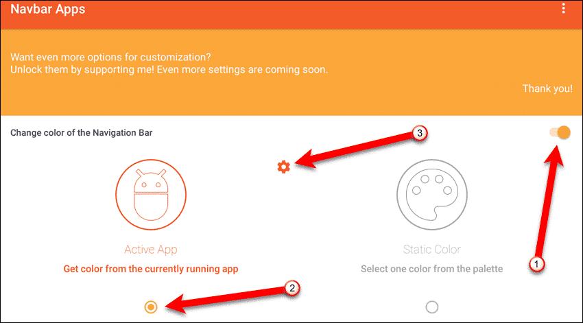 Personalize a barra de navegação no Android