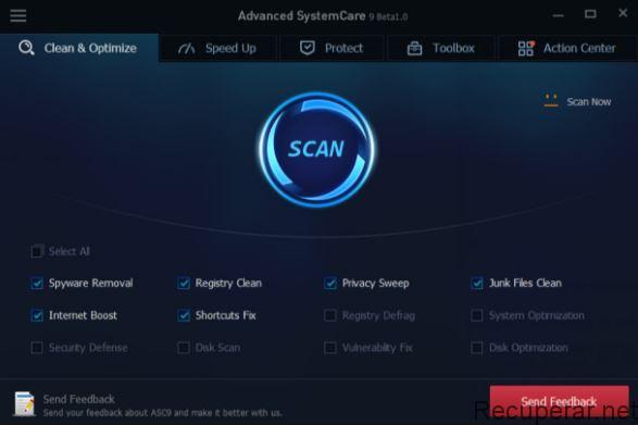 AdvancedSystem Care melhora o desempenho do pc