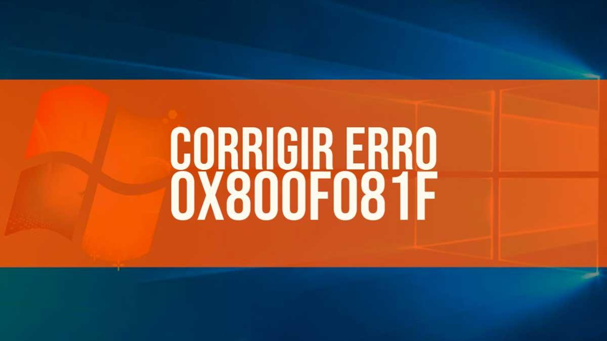 Corrigir erro 0x800f081f
