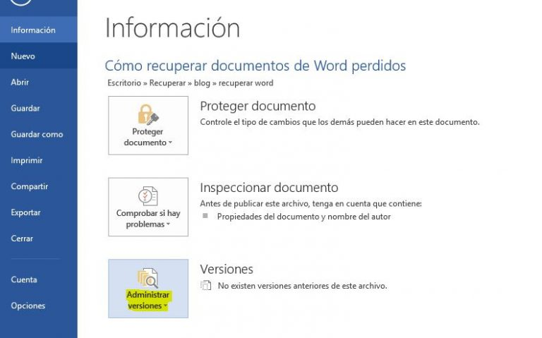 recuperar um documento sem salvar