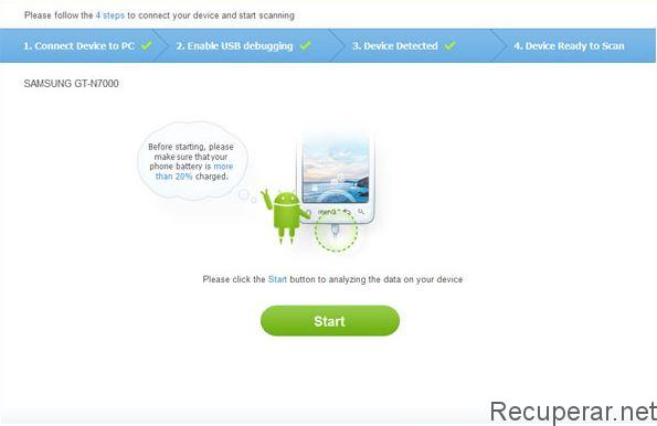 analisar recuperador de dados de celular
