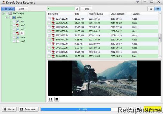 restaurar vídeo excluído