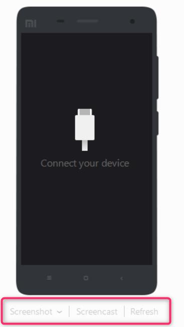 Funções de captura de tela do MI PC Suite